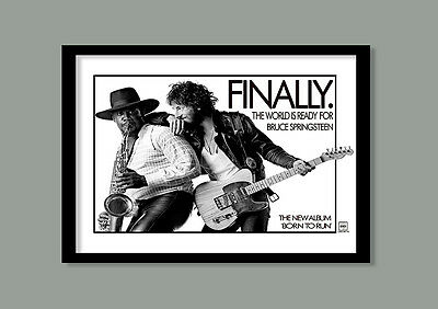 Bruce Springsteen Poster.  Born To Run Promo   Large B2 (70 X 50 Cm) Print