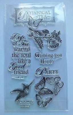 Craft Clear STAMPS Cards Scrapbooks HUMMINGBIRD FLOWERS