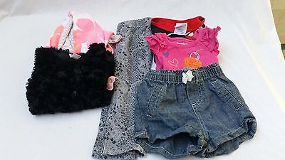 Girl's Mixed lot of 6 24 m Disney Carter's Garanimals shirt sweatshirt pants
