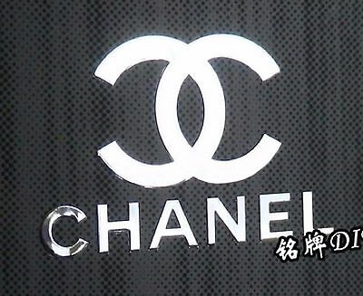 Chanel Autocollant STICKERS logo Aufklebe Metal Label etiqueta engomada
