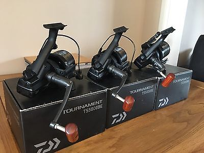 3x Daiwa Tournament TS5000BE Reels In Mint Condition