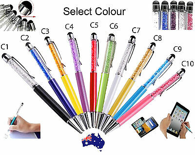 School Gift Present Personalised Engraved Crystal Ballpoint / Stylus Touch Pen