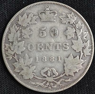 G802 - 1881H - Canada - 50 Cent Silver Coin - Ungraded - Nr