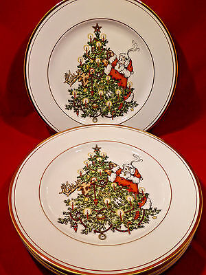 "Fitz and Floyd  ""St. Nicholas"" - Set of 2 Salad Plates - New Condition"
