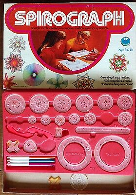Vintage 1975 Spirograph by Kenner - Education Design Drawing Toy