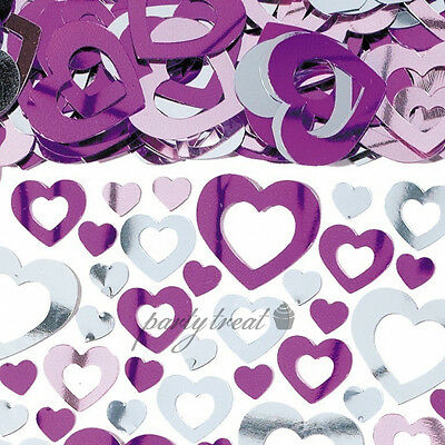 Heart Confetti Party Supplies Purple Pink Wedding Table Scatters Decorations