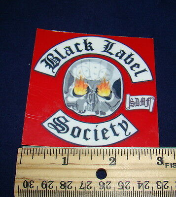 Black Label Society Sticker 3 inch by 3 inch (approximate)