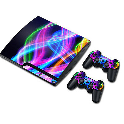 TN0157*Vinyl Decal Skin Sticker Cover For PS3 PlayStation 3 Slim+2 Controllers