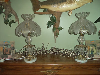 antique crystal lamps