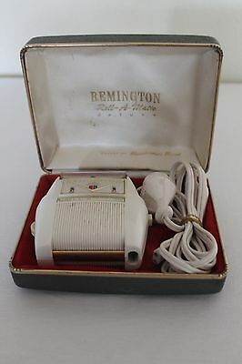 Vintage Remington Deluxe Roll A Matic Electric Shaver, In Original Box