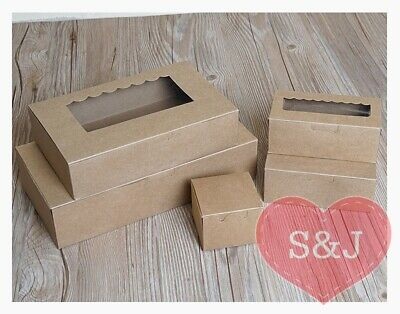 40x Brown Kraft Cardboard/Paper cupcake muffin boxes party favour bombonieres