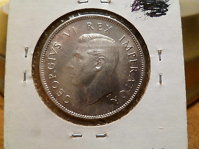 1941 Silver South Africa 2 Shillings