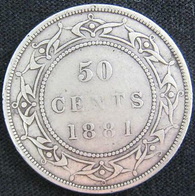 G5059 - 1881 - Canada - Nfld - 50 Cent Coin - Ungraded - Nr