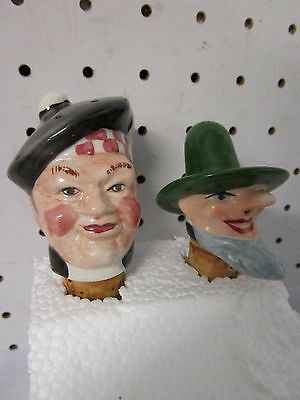 Retro Vintage Ceramic Bottle Decanter Stoppers, European & Scottish Characters