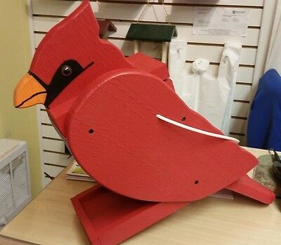 """Amish Crafted """"Cardinal Look"""" Bird Feeder - Lancaster Cnty - PA"""