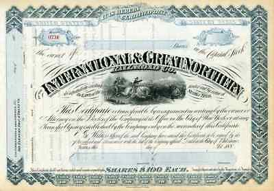 188_ International & Great Northern RR Stock Certificate