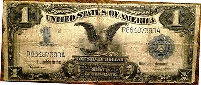 "1899 $1.00 Silver Certificate - the ""Black Eagle"" note. Good Condition!"