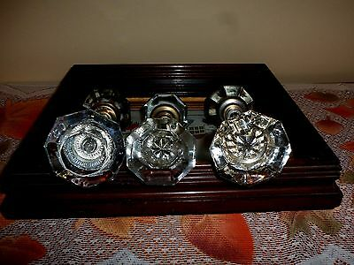 Vintage Glass Door Knobs Set of 3  Please see Revision
