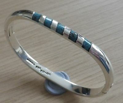Vintage Sterling Silver & Turquoise Bangle Mexico