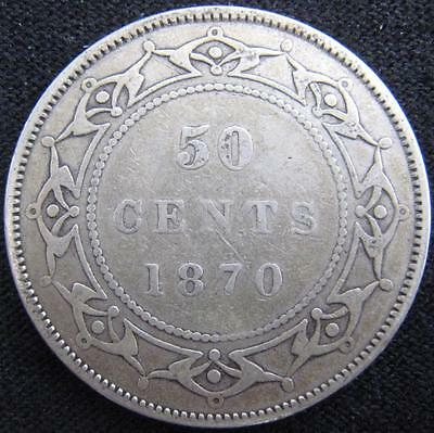 G922 - 1870 - Canada - Nfld - 50 Cent Coin - Ungraded - Nr