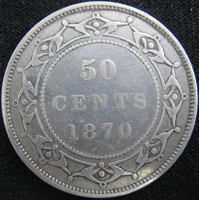 G925 - 1870 - Canada - Nfld - 50 Cent Coin - Ungraded - Nr