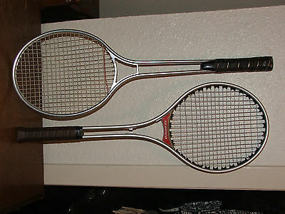 GREAT CONDITION Seamco Ken Rosewall Vintage Alum Tennis 2 Racquets WILSON Cover