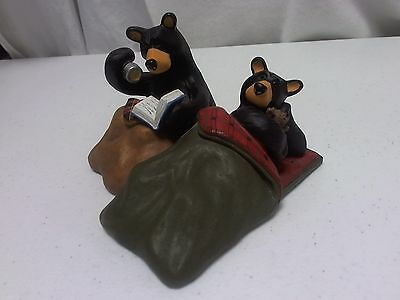 """Vintage Jeff Fleming Bearfoots """"Camp Out""""  Figurine 1996-200 Exc. Condition"""