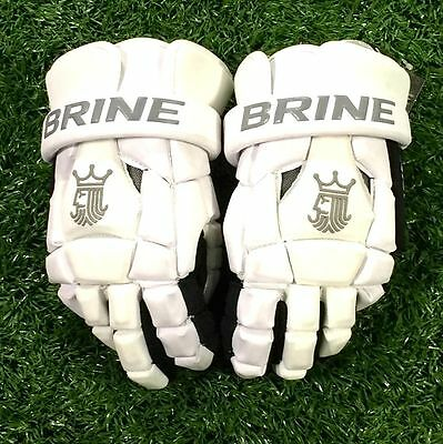 "Brine King Superlight 2 13"" White Lacrosse Gloves"