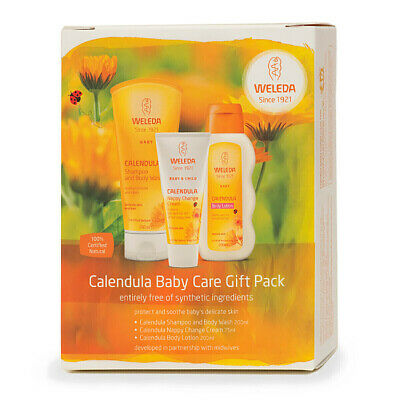 Weleda Baby Care Gift Set Pack Calendula Shampoo Wash Oil Nappy Cream