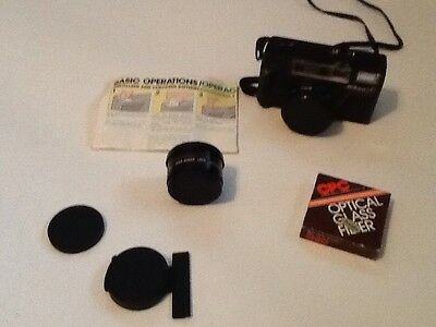 Nikon L35 AF Camera With Telephoto Lens And Wide Angle Lens, And Film