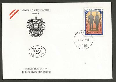 AUSTRIA - 1987 Equal Treatment of Men and Women   - F.D.COVER