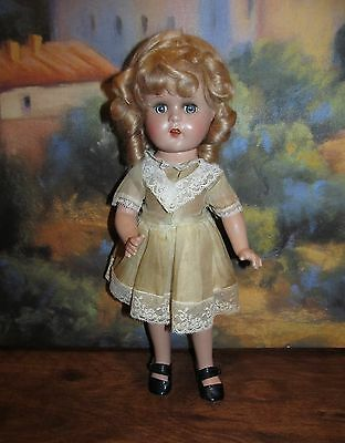 """ON SALE!   RARE 13"""" Vogue unmarked Composition Doll in Original Outfit!"""