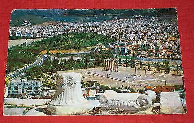 VINTAGE Athens, Greece, old as 1966 & posted card