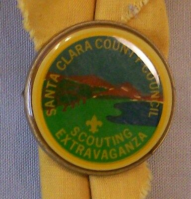 """Boy Scout Neckerchief Slide  """"Scout Extravaganza""""  Used"""