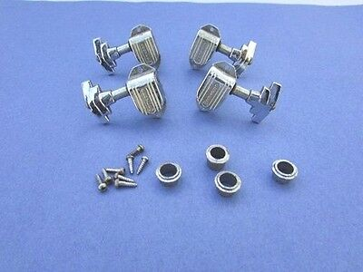 Genuine Vintage USA Grover Imperial Tuners (4) Two Treble & Two Bass