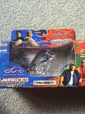 Orange County Choppers Diecast Motorcycle 1:18 Scale. T-Rex softail # 1