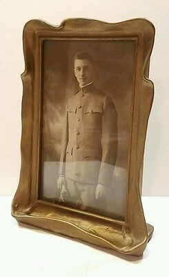 Antique Art Nouveau Pie Crust Frame/Military Man!!!