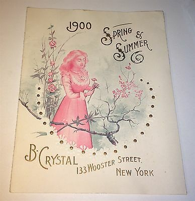 Rare Antique Victorian American Salesman Fashion Catalogue Advertising B Crystal