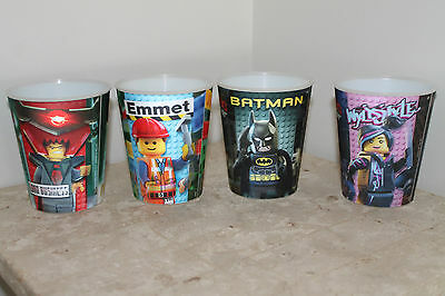 4 x The Lego Movie McDonalds Cups Happy Meal