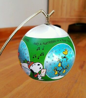 Peanuts SNOOPY Hallmark Christmas Ornament 1980 Partridge in a Pear Tree Vintage