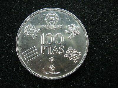 1 old world foreign coin lot SPAIN 100 pesetas 1980 World Cup Soccer 1982 KM 820