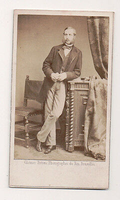 Vintage CDV Prince Philippe of Belgium, Count of Flanders Ghemar Freres Photo