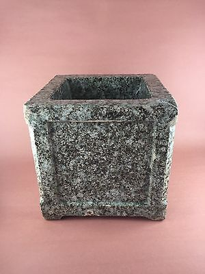 American Arts & Crafts 9x9 Glazed Terracotta Architectural Planter Box 27 LBS