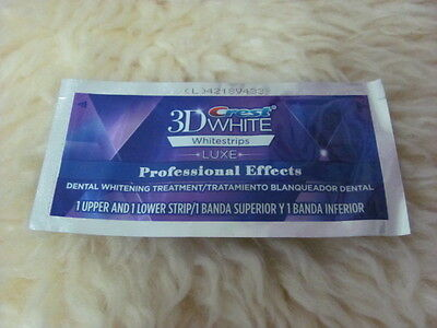 5 Pouches(10 strips) Crest 3D White Whitestrips LUXE Professional Effects