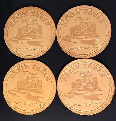 Klein Tools Racing Leather Coasters Set of 4 IndyCar