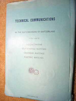 Technical Communications By The Watchmakers Of Switzerland--20 Chapters!
