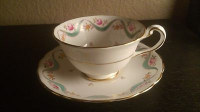 Royal Chelsea Tea Cup and Saucer Ceramic made in England