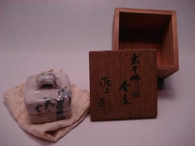 Japanese Teautensils Matcha Shino Ware Pottery Incense container11285yu