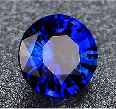 Unheated 3.72Ct Top Vvs Royal Blue Sapphire 9Mm Rount Cut Aaaa+ Loose Gemstone