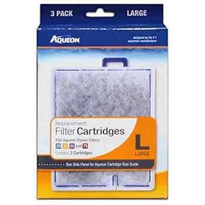 AQUEON FILTER CARTRIDGE LARGE. FOR QUIET FLOW 20.30.50,55 & 75 FILTERS. 3 Pack